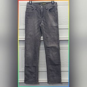 GAPKIDS 1969 BOYS STRAIGHT DISTRESSED GRAY JEANS